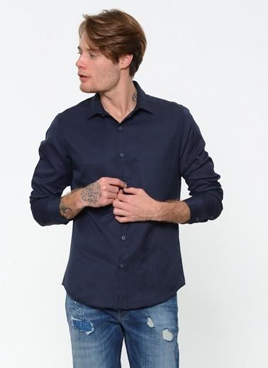 Koton Uzun Kollu Gömlek Lacivert